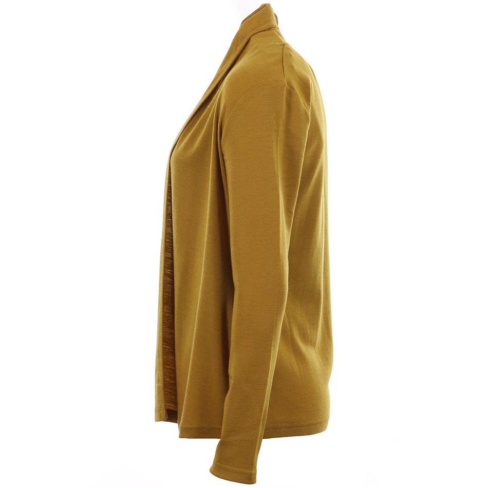 B Merino Drape Front Cardigan with Pockets - pistachio