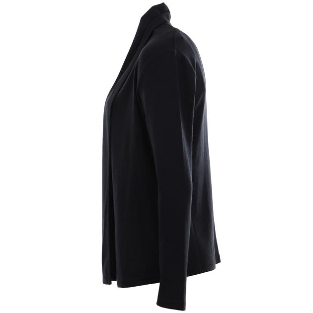 B Merino Drape Front Cardigan with Pockets - thunder
