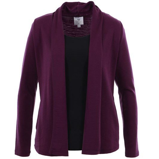 B Merino Drape Front Cardigan with Pockets