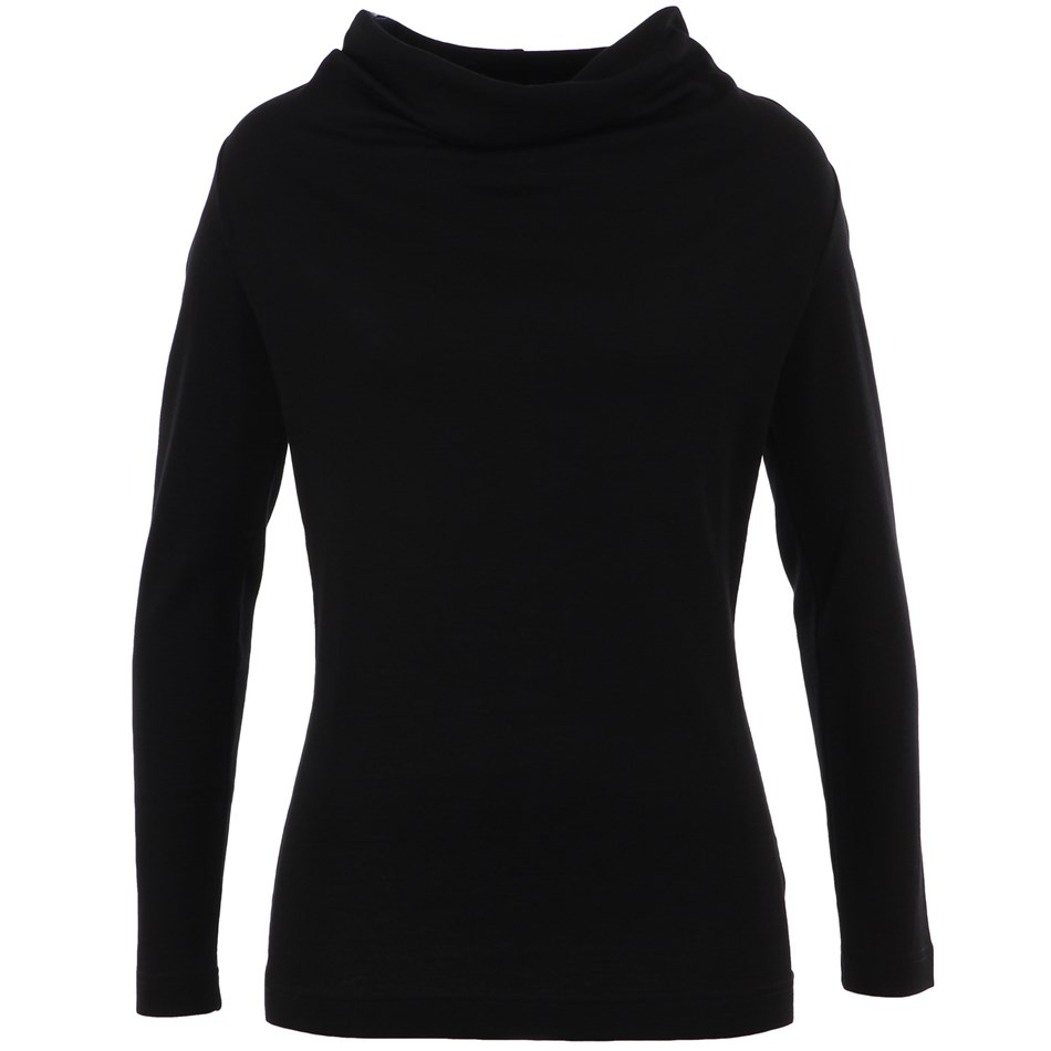 B Merino Top Basic Cowl - black