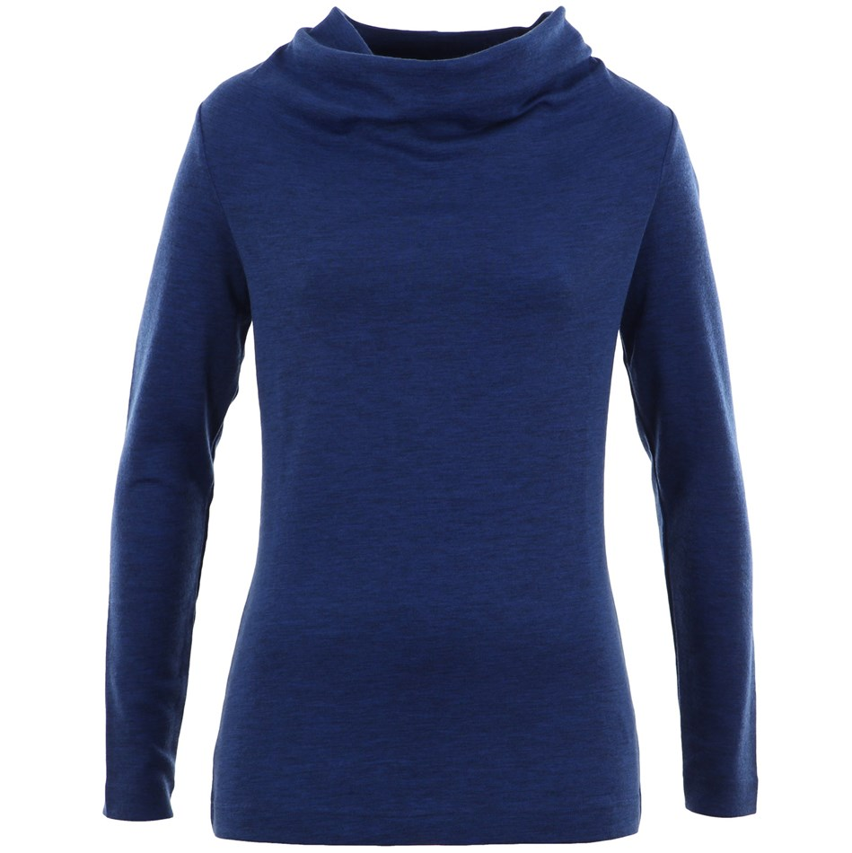 B Merino Top Basic Cowl - denim marle