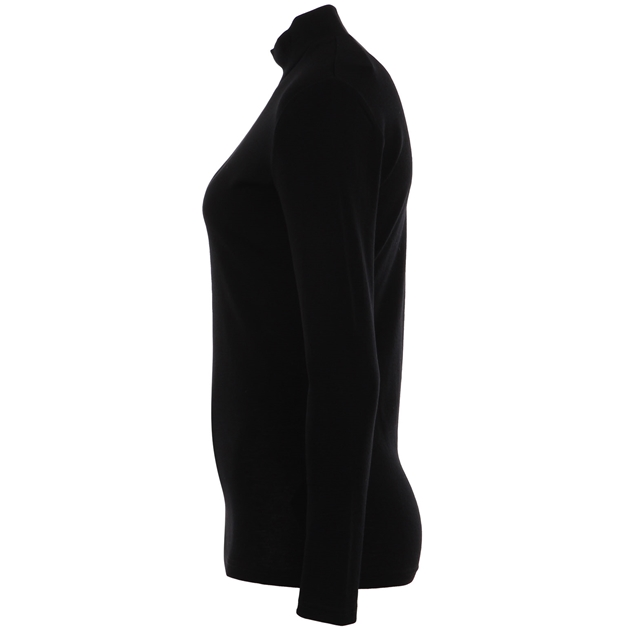 B Merino Turtle Neck - black
