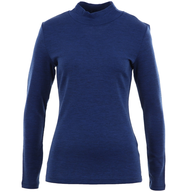 B Merino Turtle Neck - denim marle