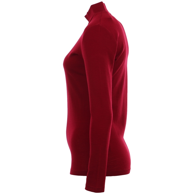 B Merino Turtle Neck - red plum
