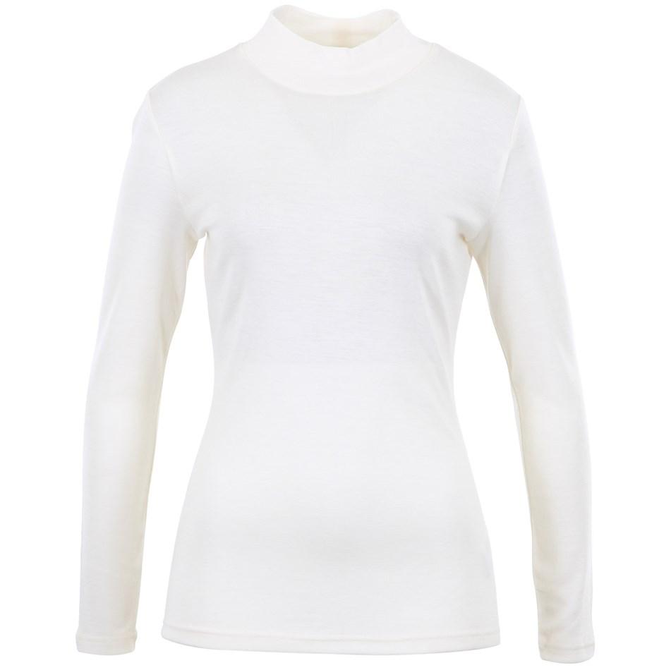 B Merino Turtle Neck - winter white