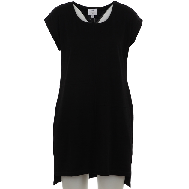 B Merino Tunic Split Hem - black