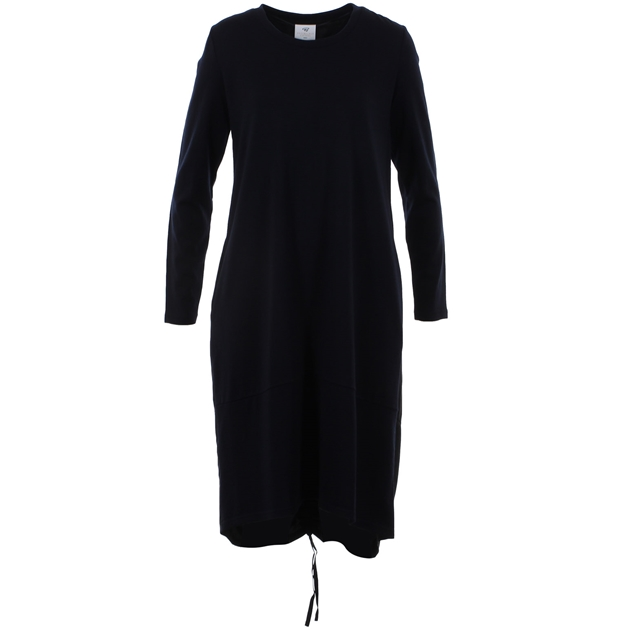 B Merino A Line Cupro Dress LS - navy
