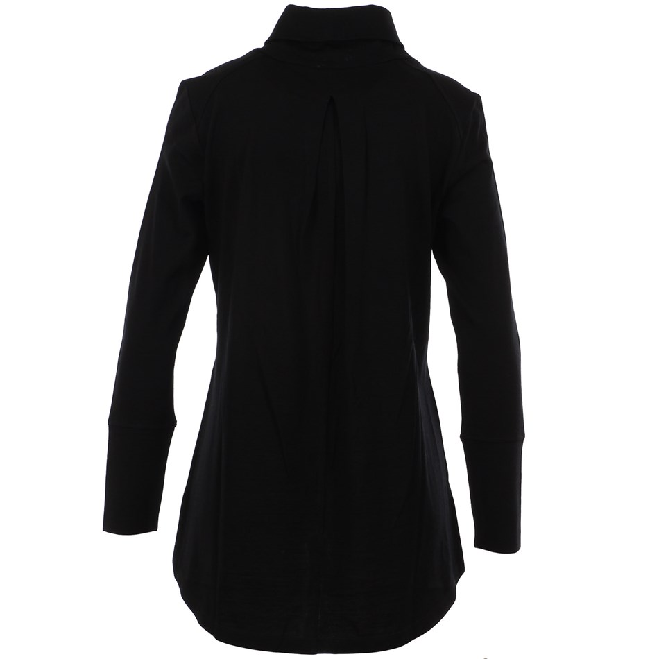 B Merino Cowl Swing Jumper - black