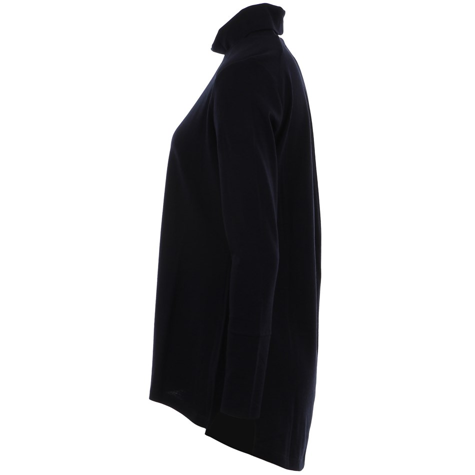 B Merino Cowl Swing Jumper - navy