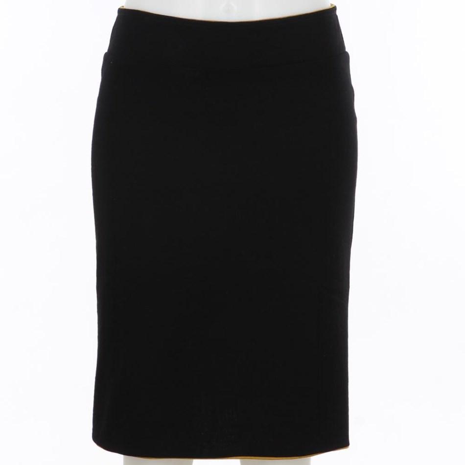 B Merino Reverse Skirt - navy black
