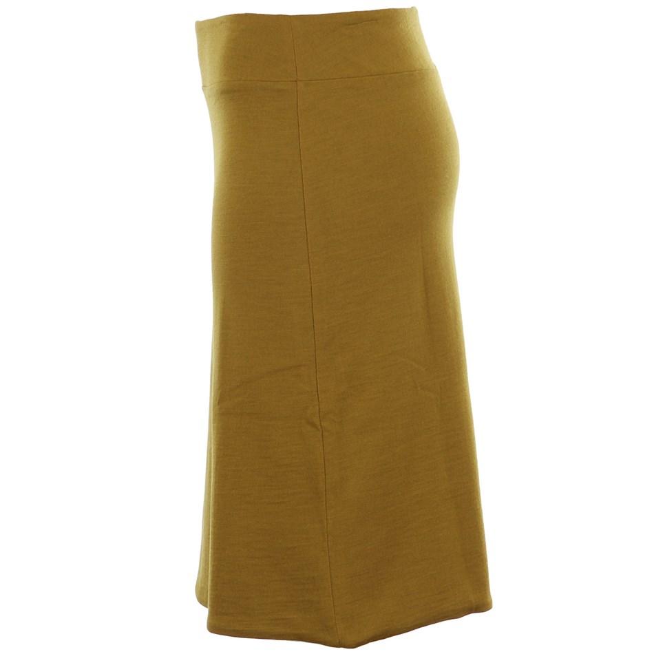 B Merino Reverse Skirt - pistachio blk