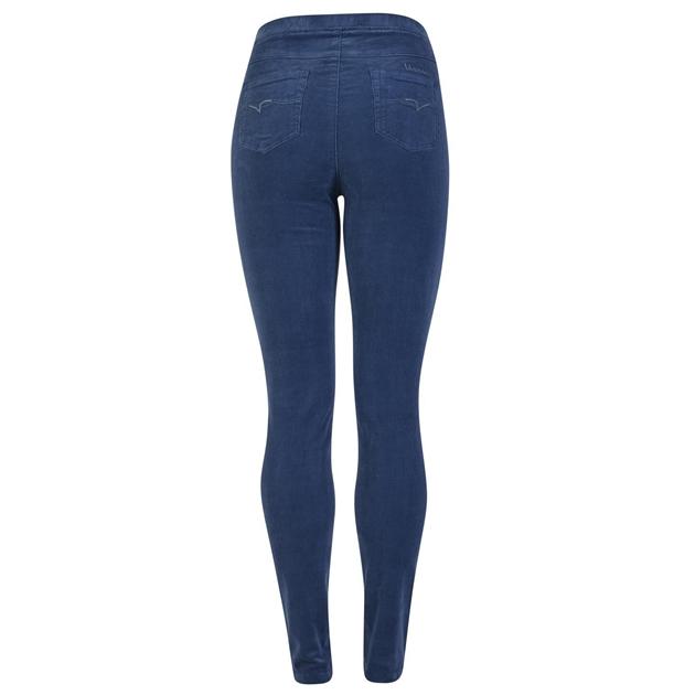 Vassalli Skinny Leg Cord Pull On - french blue