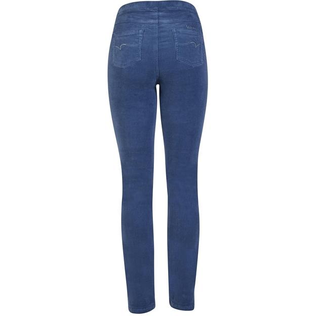 Vassalli Slim Leg Cord Pull On - french blue