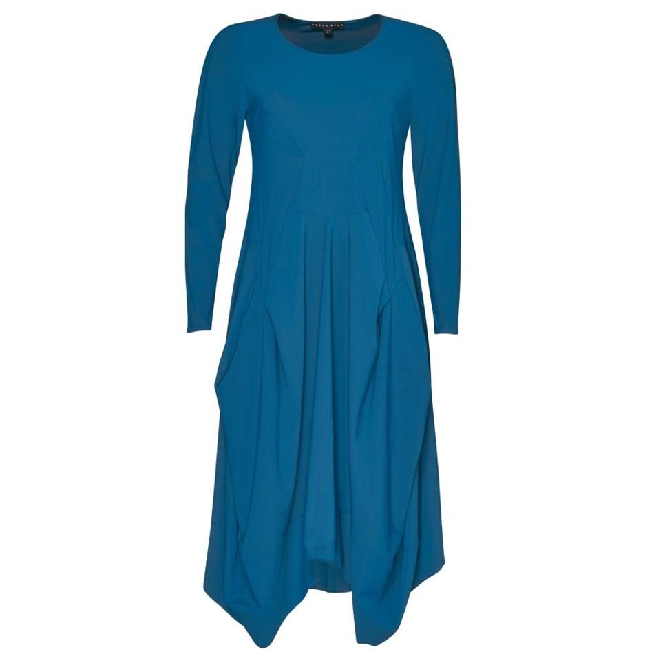 Paula Ryan Tucked Pocket Tulip Dress - indigo