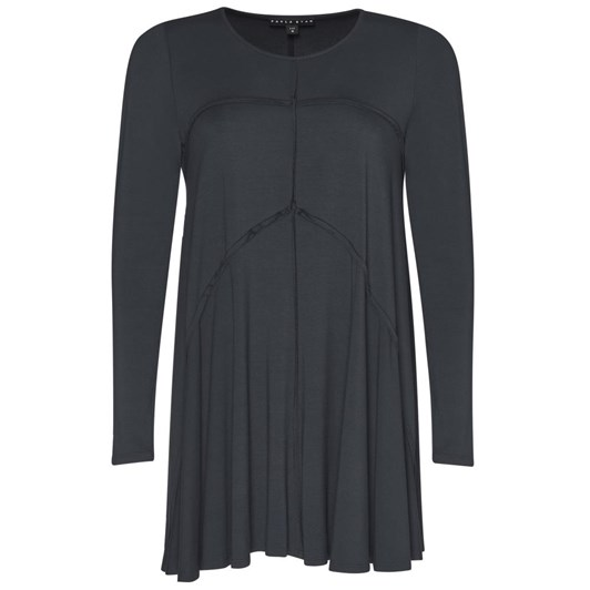 Paula Ryan Panelled Raw Edge Swing Top