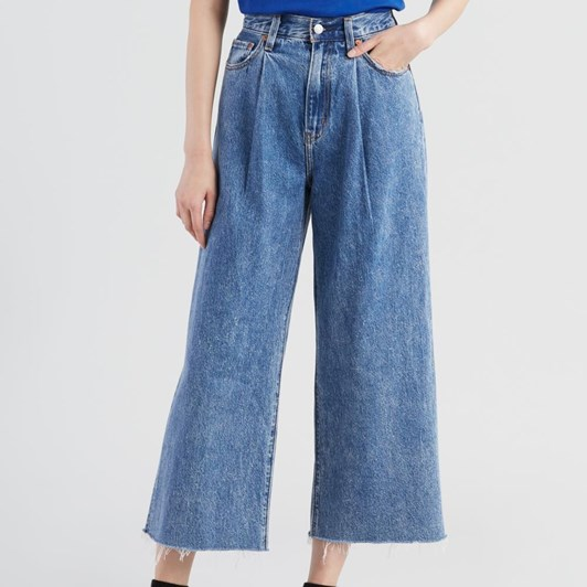 Levis Ribcage Pleated Crop