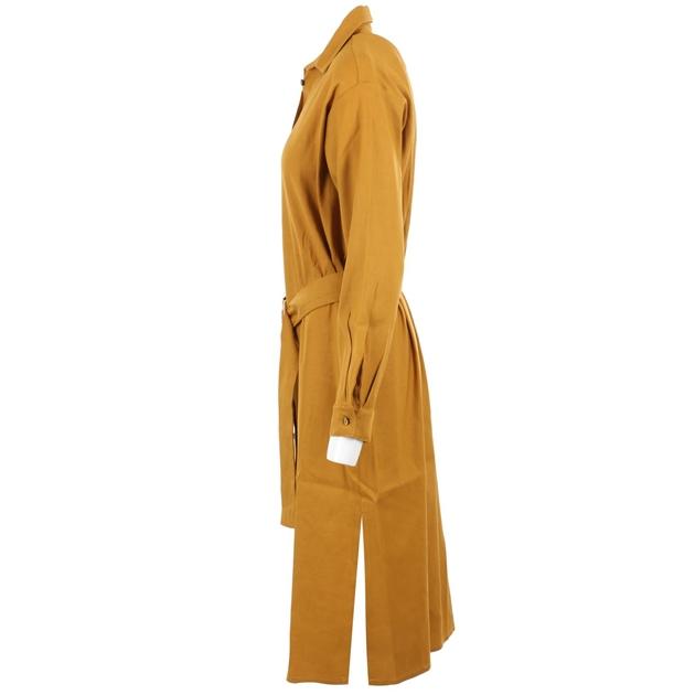 Staple + Cloth Momento Shirt Dress - mustard
