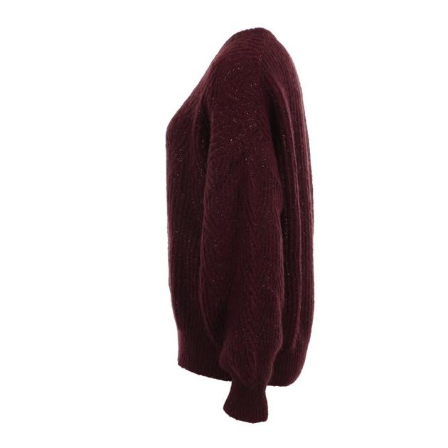 Biancoghiaccio Knit Top - bordo