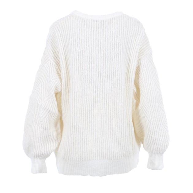 Biancoghiaccio Knit Top - ivory