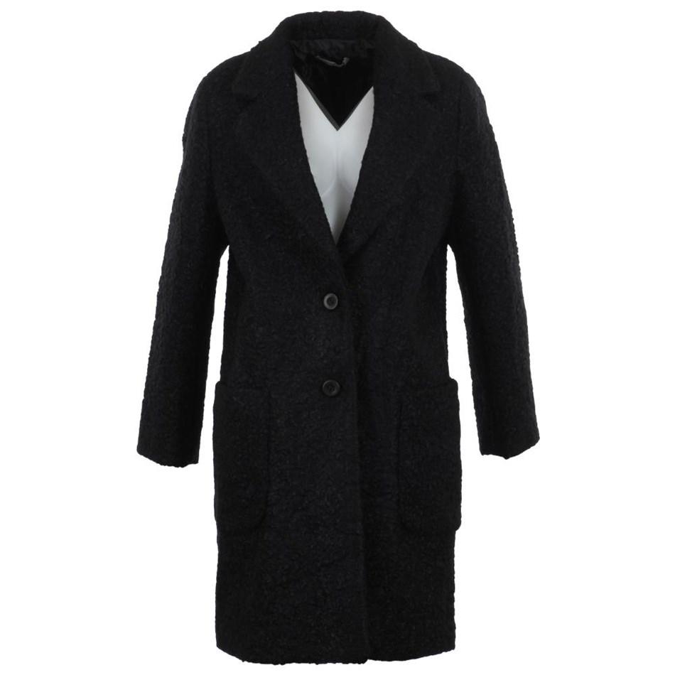 Biancoghiaccio Pulcini Coat - black