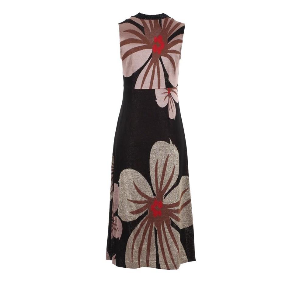 Biancoghiaccio Sleeveless Dress - flower