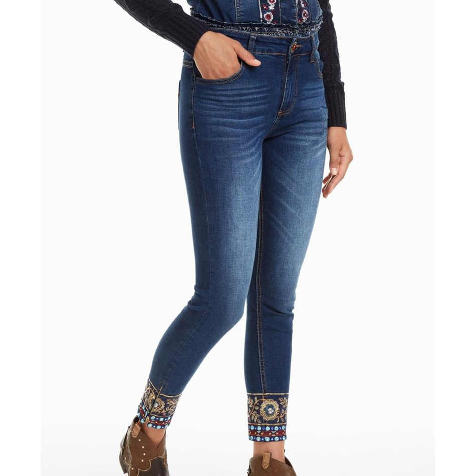 Desigual Ankle Exotic Jean - 5000 navy
