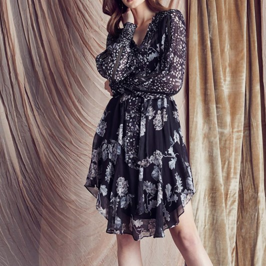 Once Was Goldsmith Lace Insert Dress