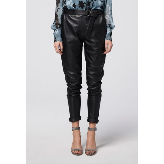 Once Was Astral Relaxed Leather Pant