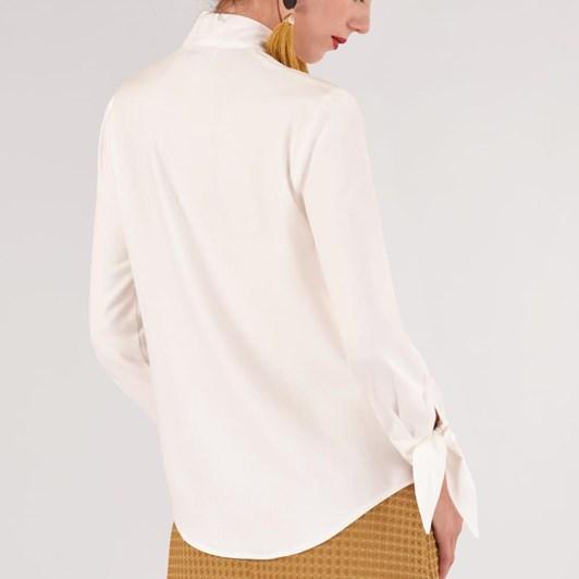 Closet Bow-Tie Neck & Cuffs Blouse