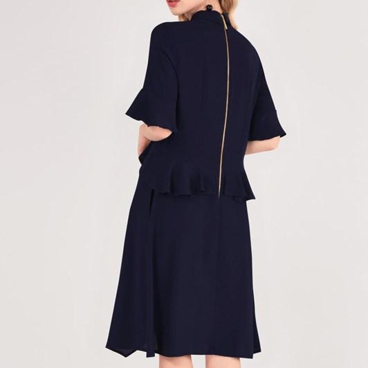 Closet Peplum Dress With Collar