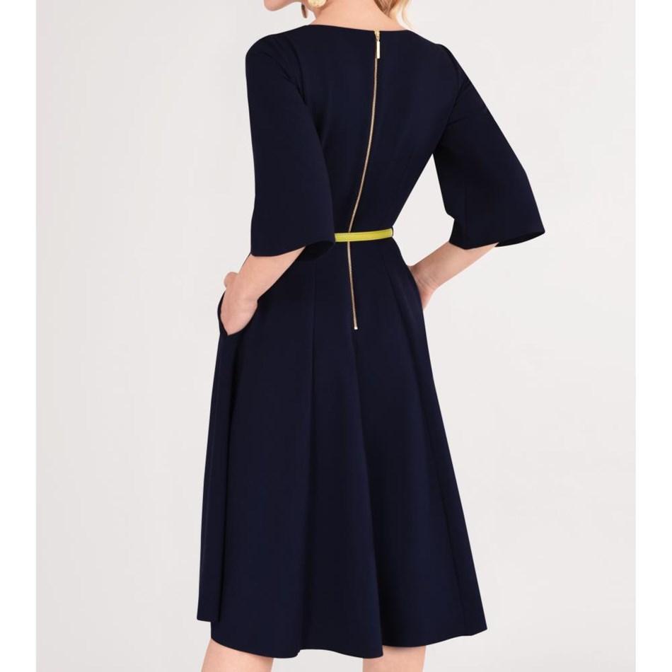 Closet Bell Sleeve Full Skirt Dress -