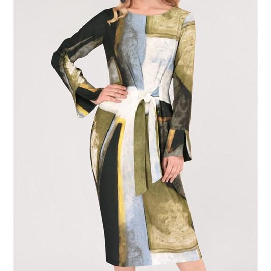 Closet Asymmetrical Pleated Dress