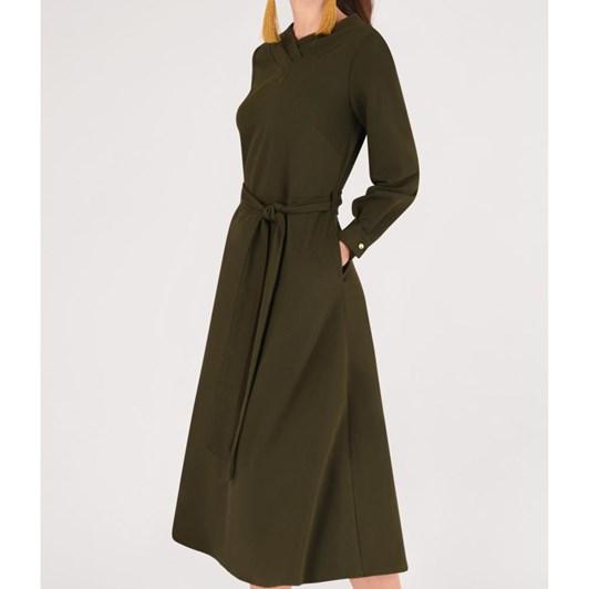 Closet Shawl Collar Midi Dress