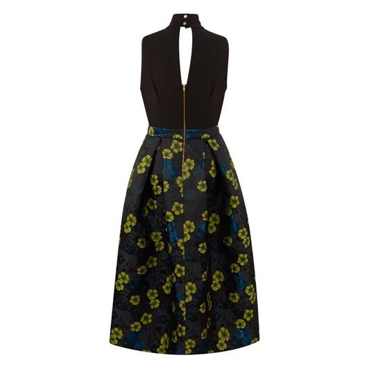 Closet Gold Collar Full Skirt Dress