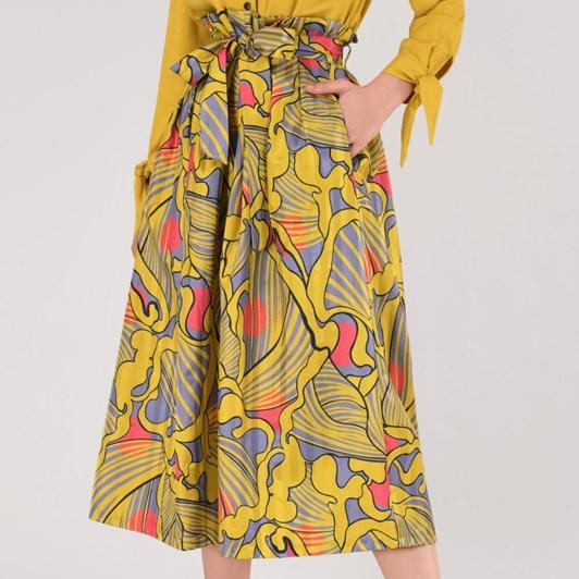 Closet Pleated Midi Skirt