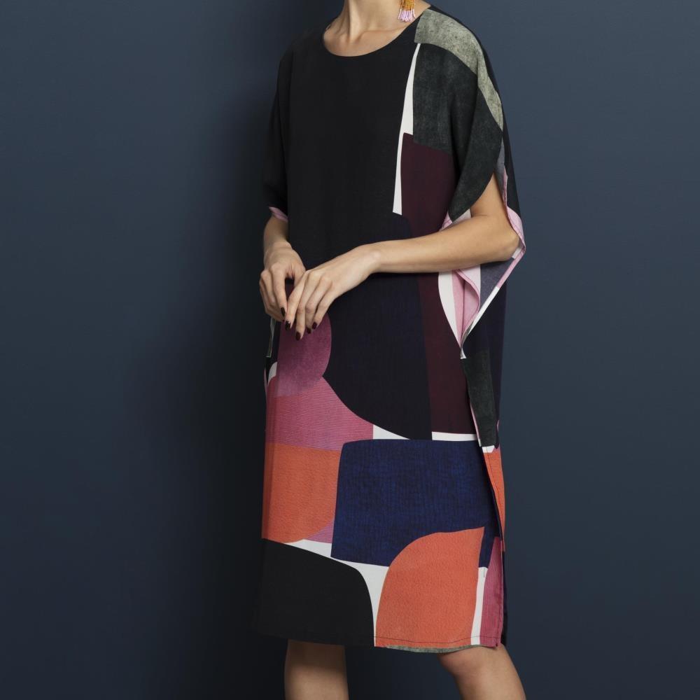 Elk Cirkel Dress Blockprint1Pink