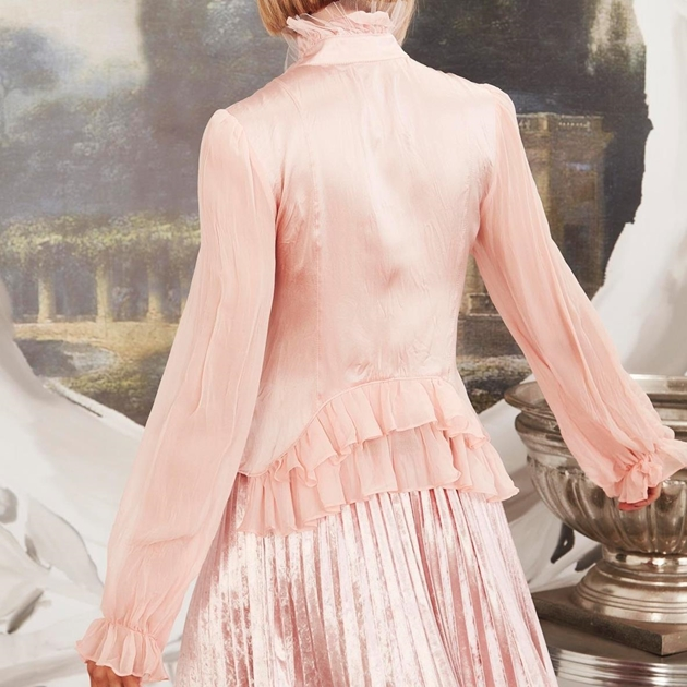 Trelise Cooper Baby Got Bustle Blouse - blush