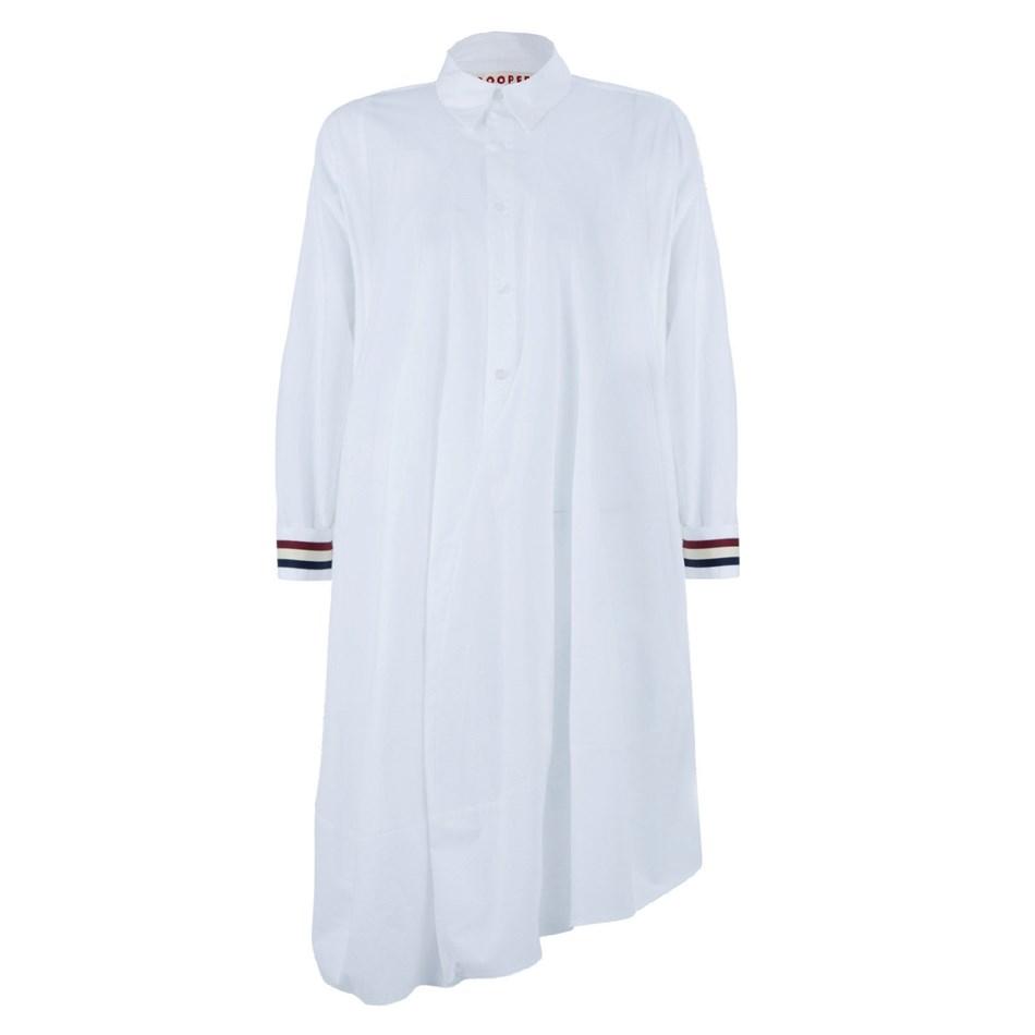 Cooper Shirt Dressing - white