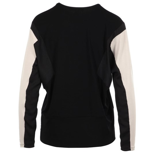 Paula Ryan Spliced Batwing Hipster Top