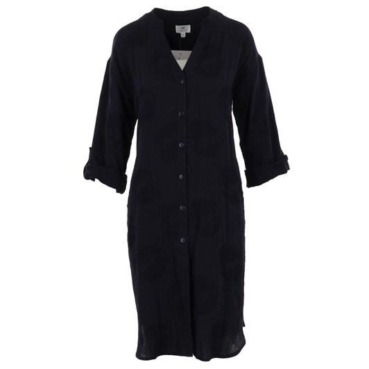 B Essentials Duster Shirt Dress Linen
