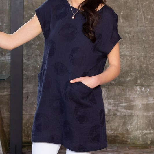 B Essentials Linen Tunic With Button Detail
