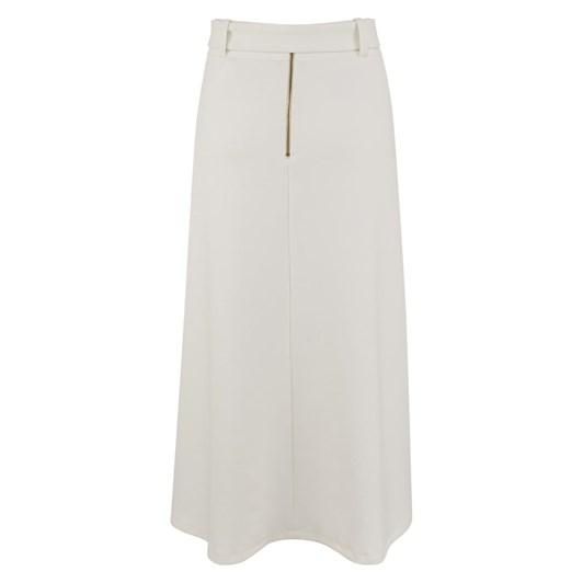 Closet A Line Belted Midi Skirt