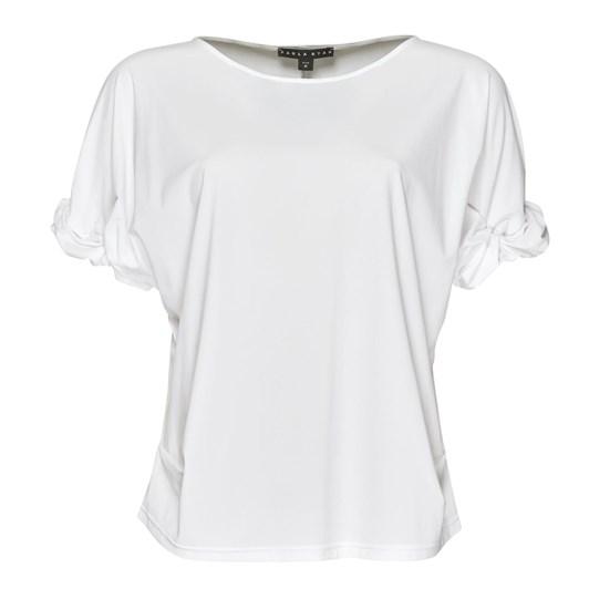 Paula Ryan Ruched Sleeve Side Tuck Top