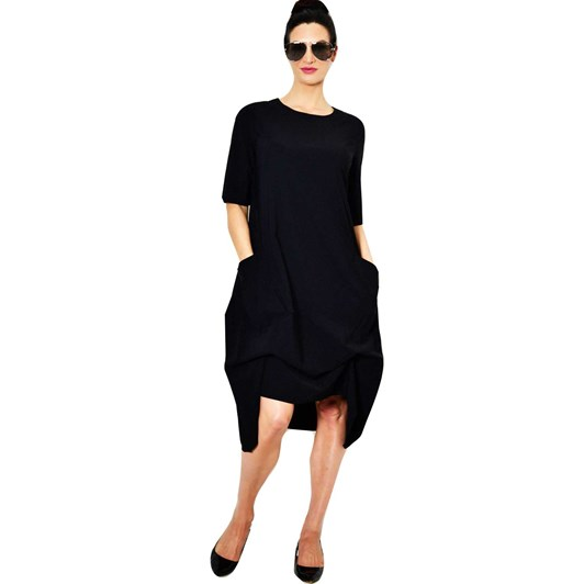 Paula Ryan Short Sleeve Bell Dress