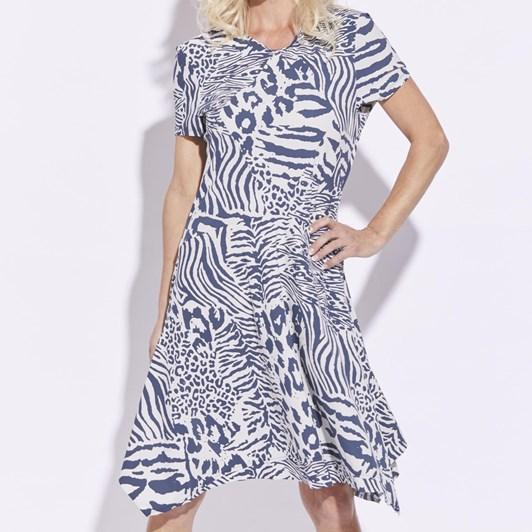 Paula Ryan Diamond Panel Dress