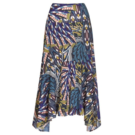 Paula Ryan Hanky Hem Basque Skirt