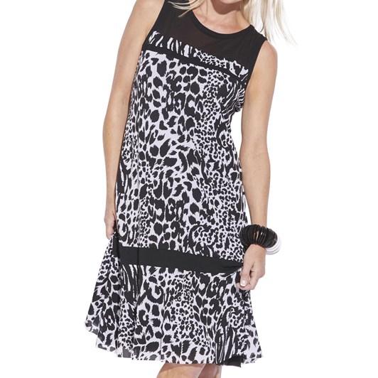 Paula Ryan Spliced Sleeveless Dress