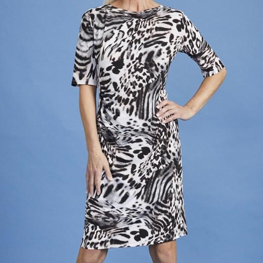 Paula Ryan Side Ruched Half Sleeve Dress