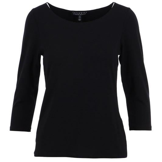 Paula Ryan Slim Fit 3/4 Sleeve Wide Neck Top