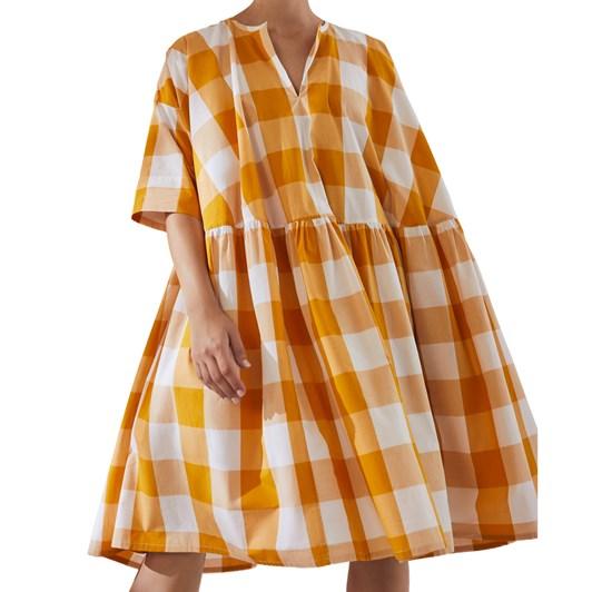Kowtow Sketchbook Dress - Daisy Check
